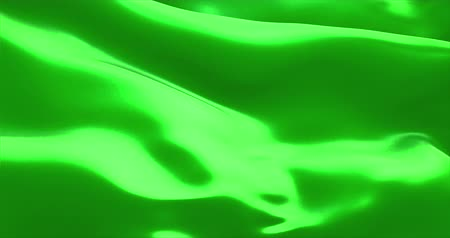 szatén : waving fabric texture of the flag with chroma key green screen color background