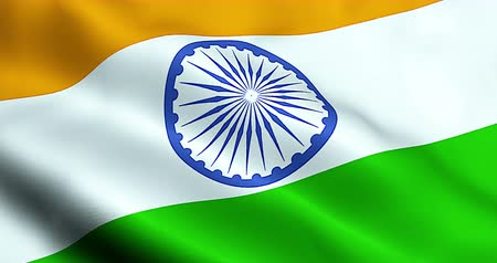 bandeira : closeup of illustration india waving flag, with blue wheel, national symbol of indian Hindu sign