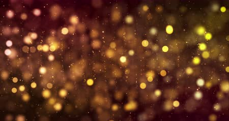 снежинки : christmas digital glitter sparks golden particles bokeh on gold background, holiday xmas festive happy new year event