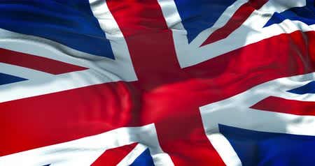 bandeira : closeup of flag of Union Jack, uk england,  united kingdom flag Vídeos
