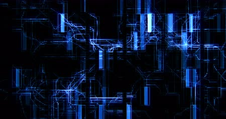 układ scalony : abstract blue circuit computer connect background movement, concept of future technology and information communication Wideo