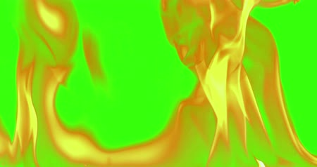 firebox : abstract real fire flames burn movement on chroma key green screen, with alpha channel background loop seamless ready