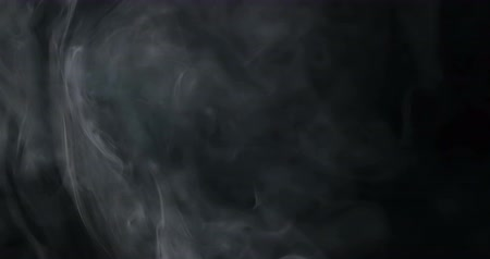 steamed : blowing horizontal steam with white smoke rise in slow motion  on black