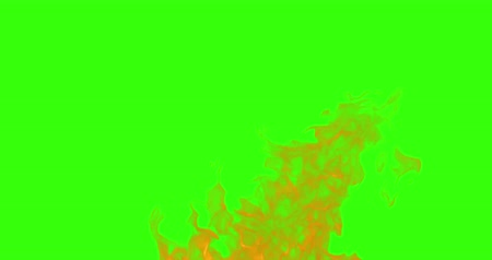 firebox : abstract real fire flames burn movement on chroma key green screen, with alpha channel background loop seamless
