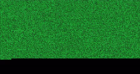 sıfır : multi numeric number green binary digital code show on black background, computer generated seamless loop abstract lines motion background, new technology Stok Video