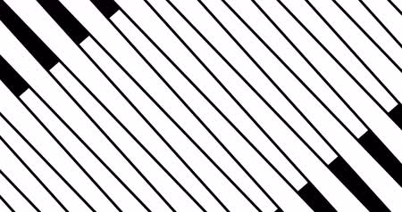 tv channel : abstract multi transition shape triangle and square lines wave brush stroke stripes black and white movement tv film transition series background, animation of paint with alpha