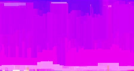 videotape : abstract multi color realistic screen glitch flickering, analog vintage TV signal with bad interference and color bars, static noise background.