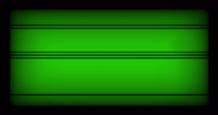 videotape : chroma key green screen background realistic flickering, analog vintage TV signal with bad interference and horizontal lines, static noise background,