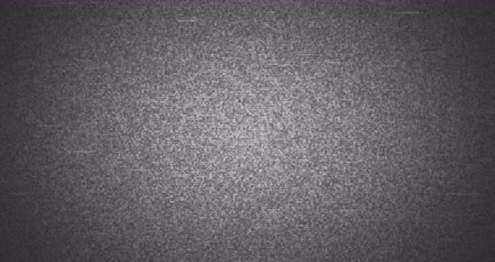 videotape : grey, black and white vhs glitch noise background realistic flickering, analog vintage TV signal with bad interference, static noise background, overlay Stock Footage