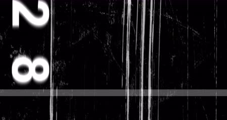 videotape : old grunge film on black background realistic flickering, analog vintage TV signal with bad interference, static noise damage background, overlay