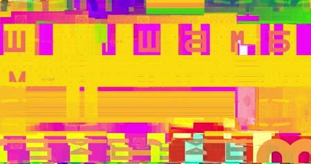pixellated : colorful vhs glitch background realistic flickering, analog vintage TV signal with bad interference, static noise background, overlay