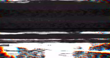 videotape : colorful vhs glitch background realistic flickering, analog vintage TV signal with bad interference, static noise background, overlay