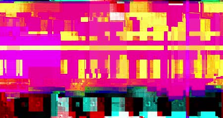 artifacts : abstract multi color realistic screen glitch flickering, analog vintage TV signal with bad interference and color bars, static noise background, overlay