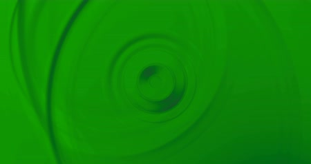 pronto : wave circle water effect in movement on surface on chroma key green screen background, real effect ready for
