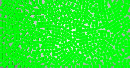 гелий : green a lot of green dice cubes symbol falling down on gray gradient screen background, with alpha
