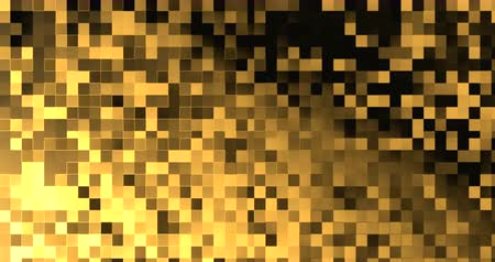 sheen : abstract gold metallic square fabric geometric shape golden Stock Footage
