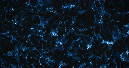 sedoso : top of view of abstract blue shiny texture wave material movement background, seamless Vídeos