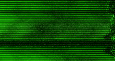 videotape : gray and chroma key green screen, horizontal black and white vhs glitch noise background realistic flickering, analog vintage TV signal with bad interference, static noise background, overlay Stock Footage