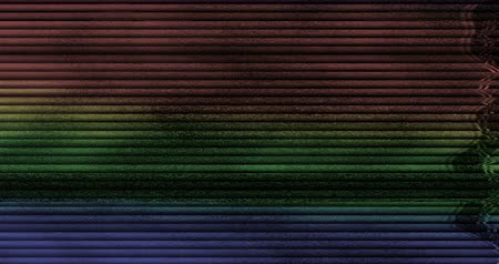 artifacts : colorful glitch noise background realistic flickering, analog vintage TV signal with bad interference, static noise background, overlay