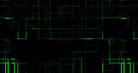 układ scalony : abstract green circuit computer connect background movement, concept of future technology and information Wideo