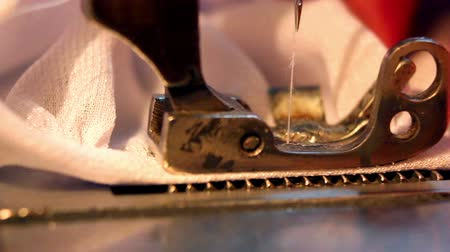 clothing : Sewing Machine Stock Footage