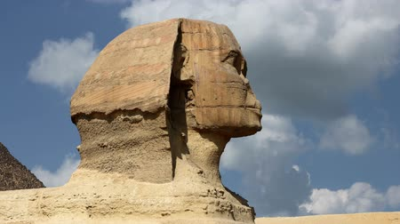 faraon : Timelapse Of The Sphinx In Giza Valley, Cairo, Egypt
