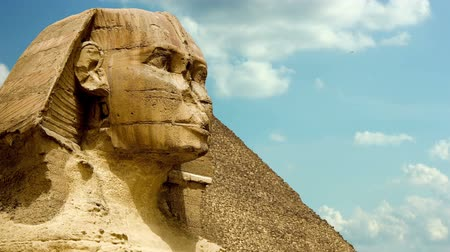 kahire : Timelapse Of The Sphinx In Giza Valley, Cairo, Egypt