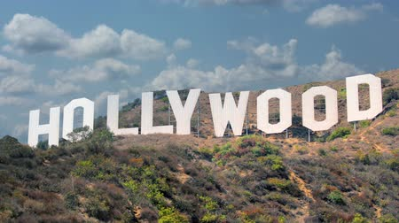 pancarte : Signe Hollywood Los Angeles fermer Shot