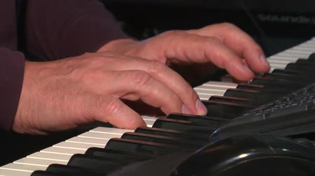 artistas : close-up of a human hand on the piano keys play music Vídeos