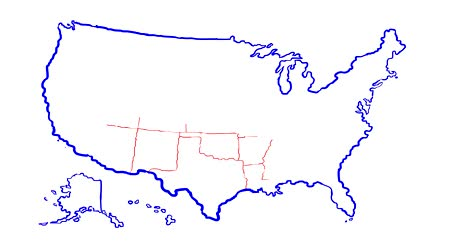 united states : united state of america map with state