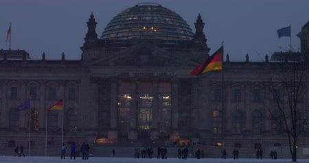 points of interest : The historic Reichstag in Berlin with its modern dome in October 25, 2011, Berlin, Germany