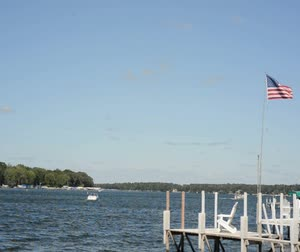 iowa : Lake Okoboji Stock Footage