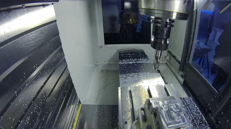 engineering : CNC milling machine on a factory