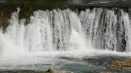 fresh water : waterfall with fresh water in wild nature Stock Footage