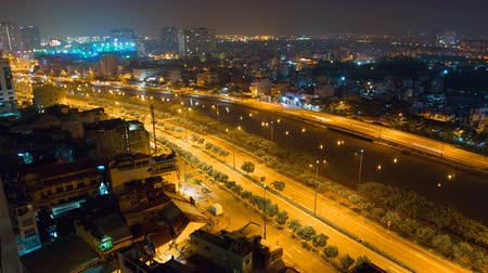 chi : Ho Chi Minh City landscape from skyscraper at night