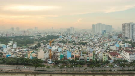 chi : Morning in Ho Chi Minh City. Timelapse.