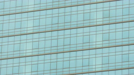 architektura : Glass wall of business center. May be used as background. Wideo