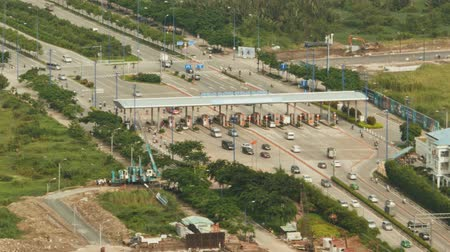borders : Checkpoint on the road to Ho Chi Minh city. Stock Footage
