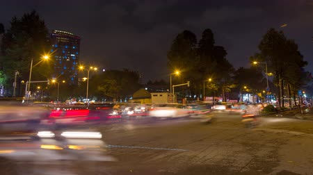 chi : Timelapse night traffic in Ho Chi Minh City