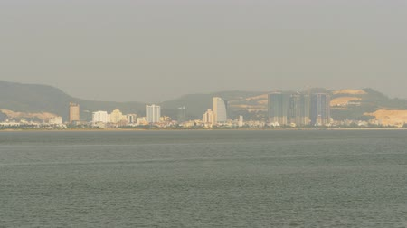 north vietnam : Ha Long city on the north of Vietnam. Panorama of the city from afar.