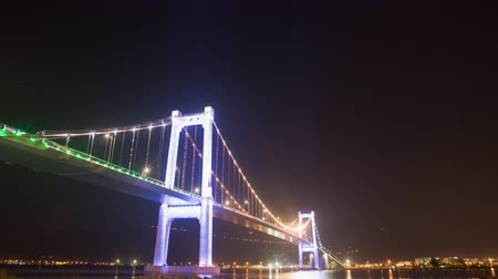 citynight : Thuan Phuoc Bridge at night. Da Nang, Vietnam.