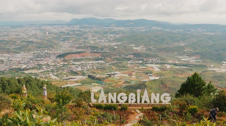 turistik : DALAT, VIETNAM - OCTOBER 5, 2016: Landscape at Mount Langbiang, place of excursions, central highlands near Dalat, Vietnam, Asia