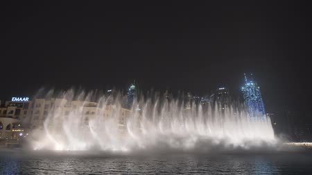 khalifa : Dubai, UAE - May 15, 2018: Majestic dancing fountains in Dubai.