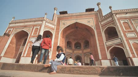 imparator : Delhi, India - November 28, 2018: The complex of buildings Humayuns tomb which is a World Heritage architecture.