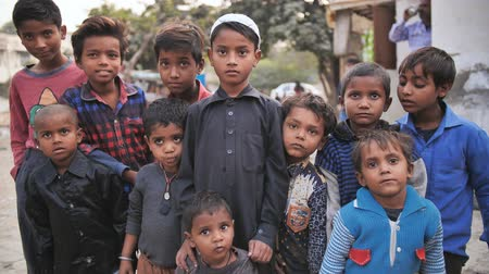 kolkata : Agra, India - December 12, 2018: Indian boys from poor areas of the city of Agra.