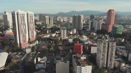 city tour : Kuala Lumpur, Malaysia - January 21, 2019: Aerial view of the capital of Malaysia. Kuala Lumpur from a height. Stock Footage