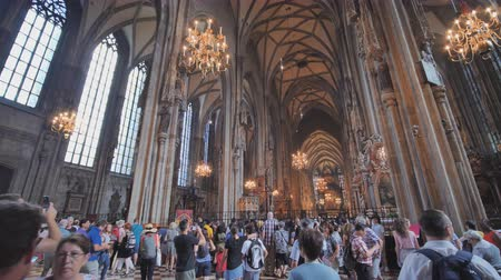 art : Vienna, Austria - August 13, 2018: Interior Stephens Cathedral in Vienna Austria.