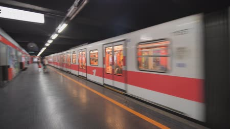 mind the gap : MILAN, ITALY - FEBRUARY 07, 2019: The Milan metro station