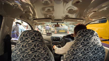 Mumbai, India - December 17, 2018: Taxi car salon in mumbai.