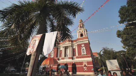 divino : New Delhi, India - November 28, 2018: Sacred heart cathedral church which is located at Connaught place. Belonging to the Latin Rite and one of the oldest church buildings in New Delhi.
